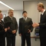 Visita de magistrados do Equador - 02