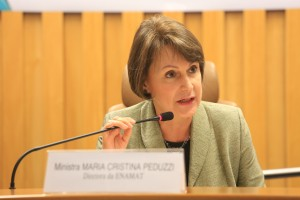 Ministra Maria Cristina Irigoyen Peduzzi, diretora da Enamat