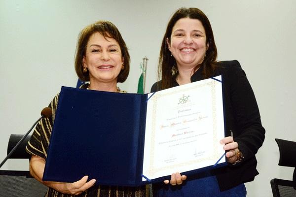 Ministra Maria Cristina Irigoyen Peduzzi, Diretora da ENAMAT e Juíza Flávia Titular de Vara do Trabalho Flávia Moreira Guimarães Pessoa