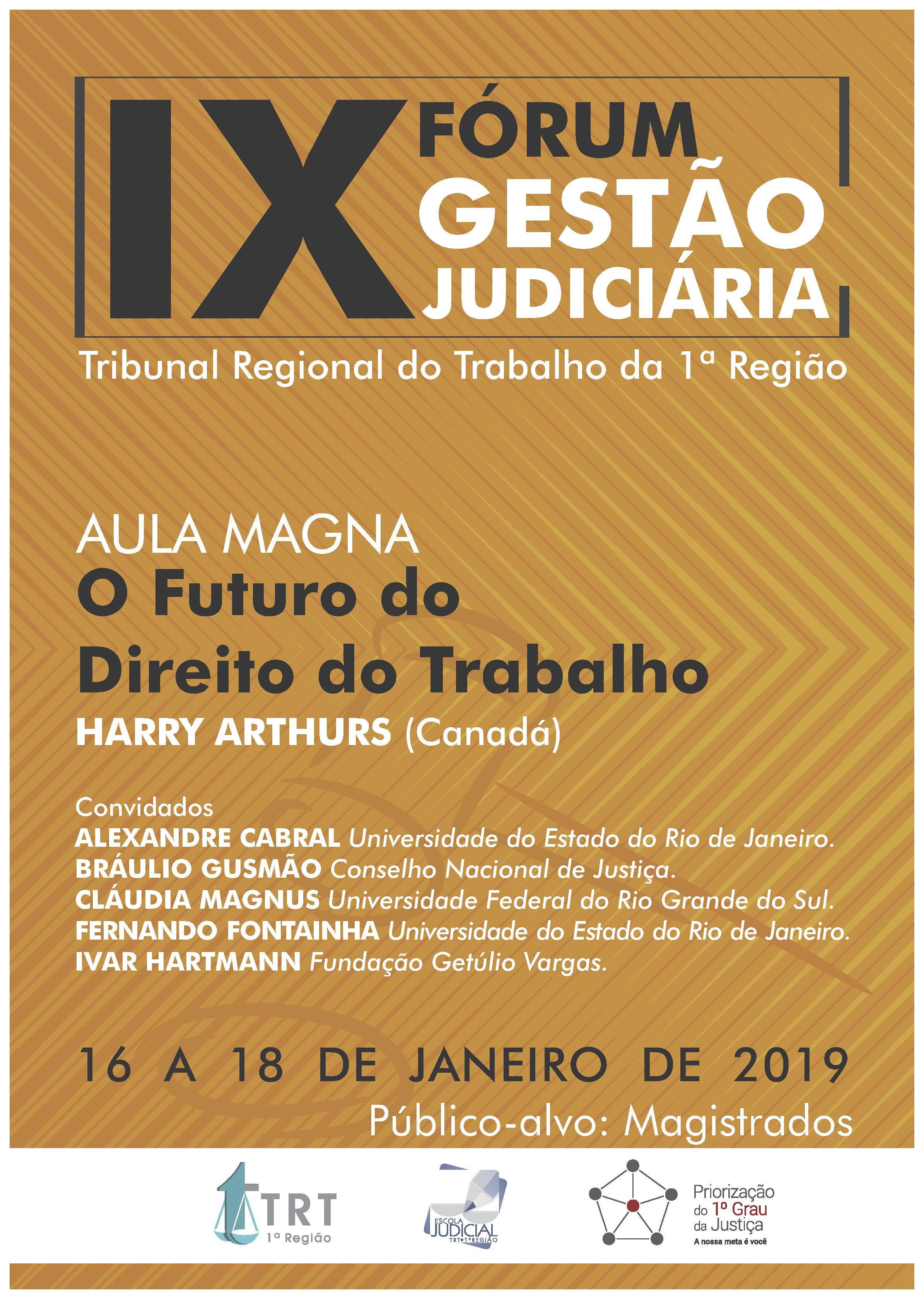 cartaz 9º Fórum Gestão Judiciária
