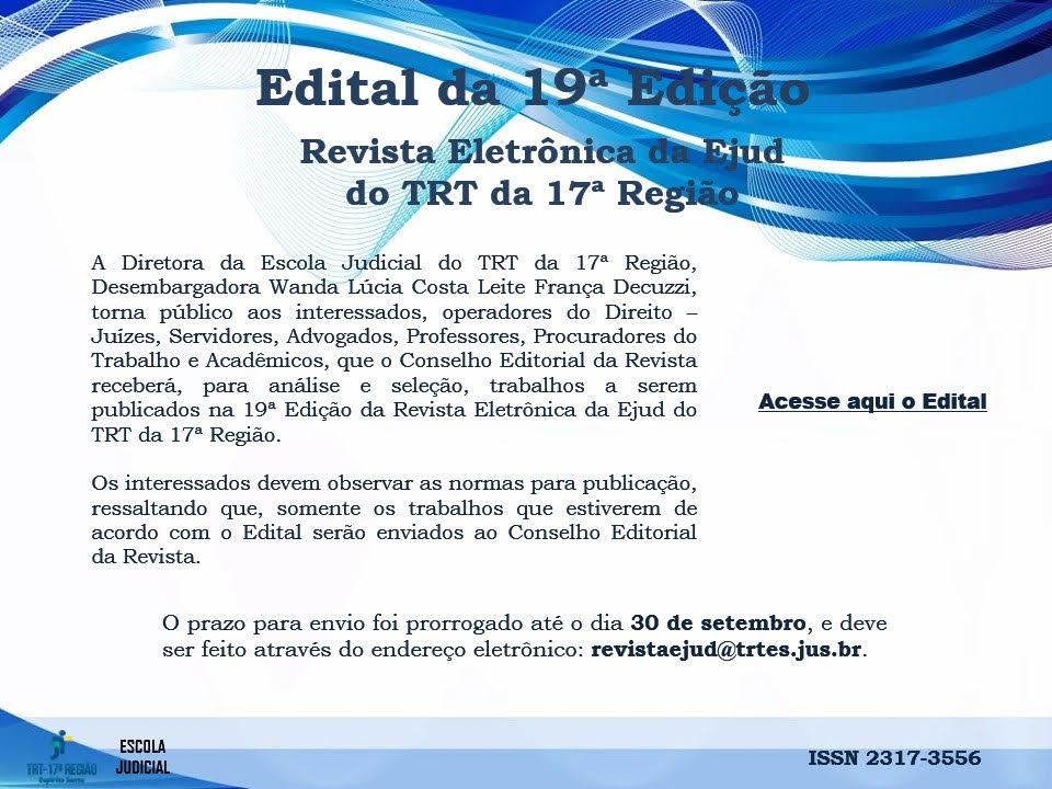 Folder da revista da EJUD17