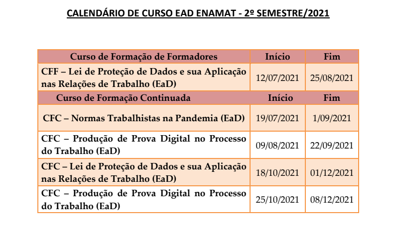 Calendário Enamat 2.2021